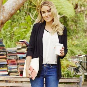 LC Lauren Conrad Black Open Blazer Jacket